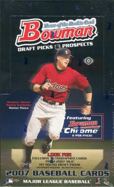 2007 Bowman Chrome Draft Picks Baseball Box