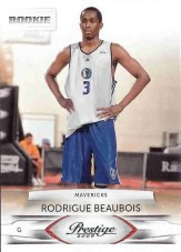 Rodrigue Beaubois 2009/10 Panini Prestige Basketball RC Card