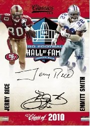 2010 Panini Classics Jerry Rice Emmitt Smith Dual Signature