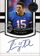 2010 Press Pass Portraits Tim Tebow Autograph