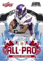 2010 Score Adrian Peterson All Pro Insert