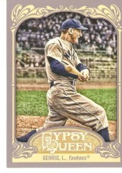 2012 Topps Gypsy Queen Lou Gehrig Base Card