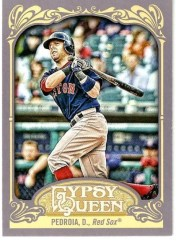 2012 Topps Gypsy Queen Dustin Pedroia Sp Varitaion Card