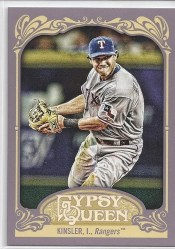 2012 Topps Gypsy Queen Ian Kinsler Sp Variation