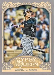 2012 Topps Gypsy Queen Carlos Gonzalez Base