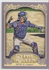 2012 Topps Gypsy Queen Mike Napoli Sp Variation Card