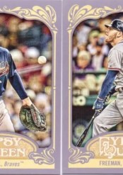 2012 Topps Gypsy Queen Freddie Freeman Sp Variation Card