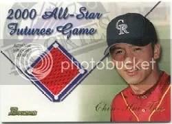 2001 Bowman Chrome Futures Game Relics