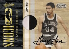 09/10 Panini Absolute Memorabilia George Gervin Icons Jersey