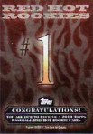 2010 Topps Series 2 Red Hot Rookies Redemption Card #1
