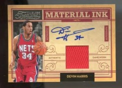 09/10 Panini Timeless Treasures Devin Harris Material Ink
