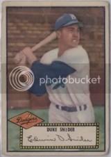 Duke Snider #37 1952 Topps