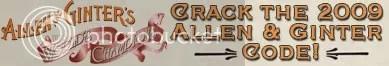 2009 Allen & Ginter Crack The Code