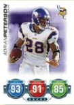 2010 Topps Attax Adrian Peterson Base Card