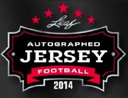 2014 Leaf Autographed Jersey Football