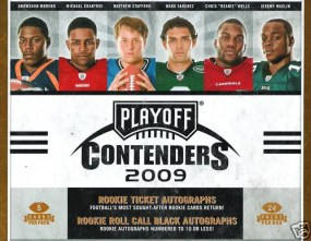 2009 Playoff Contenders Football Hobby Box