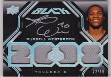 Russell Westbrook UD Black Auto