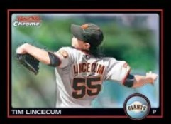 2010 Bowman Chrome Tim Lincecum Base Card