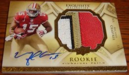 2009 Michael Crabtree Exquisite Patch Autograph RC