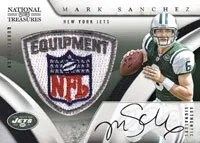 2009 Playoff National Treasures Mark Sanchez Auto Patch Rookie