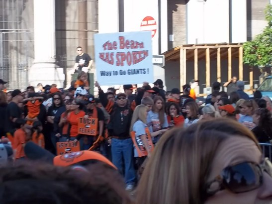 2010 SF Giants The Beard Has Spoken Sign at Parade
