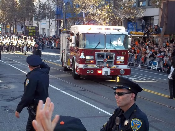 2010 San Francisco Giants Parade Fire Truck Photo
