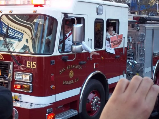 Giants World Series Parade Fire Truck