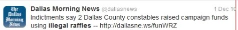 Dallas Morning News Tweet