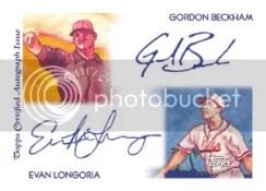 Gordon Beckham Evan Longoria Dual Autograph Topps Chicle