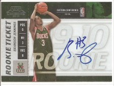 2009/10 Panini Playoff Contenders Brandon Jennings Auto RC