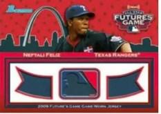 Neftali Feliz 2010 Bowman Futures Game Triple Jersey
