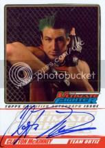 2010 Topps Ultimate Fighter Season 11 Foto Auto