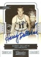 09/10 Panini Classics Harry Gallatin Significant Signature Auto