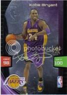 2009/10 Panini Adrenalyn Kobe Bryant Ultimate
