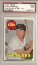 1969 Topps Mickey Mantle PSA 5