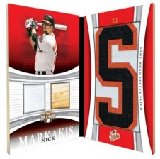 2010 Triple Threads Nick Markakis Letter Plus