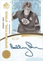 2009/10 SP Authentic Immortal Inks Bobby Orr Autograph