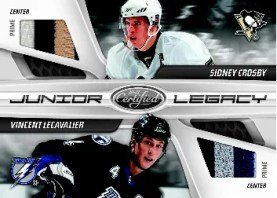 10-11 Panini Certified Sidney Crosby Vincent Lecavalier Dual Prime Jersey