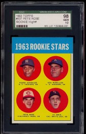 1963 Topps Pete Rose ROOKIE #537 SGC 98 (10) GEM MINT