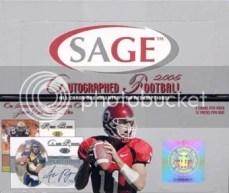 2005 Sage Autographed Football Box