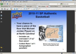2010/11 Sp Authentic Michael Jordan Supreme Court