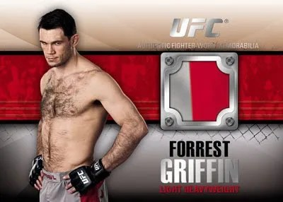 2011 Topps UFC Forrest Griffin Righter Relic Swatch Card