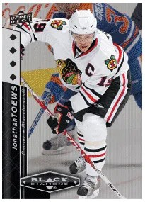 2010/11 UD Black Diamon Jonathan Toews Base Card