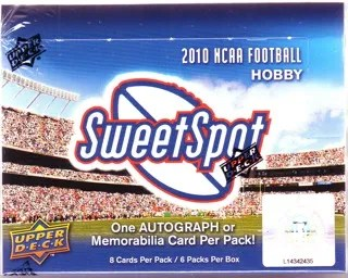 2010 Upper Deck UD Sweet Spot Football Hobby Box