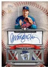 2010 Topps Sterling Ryne Sandberg Triple Relic Autograph
