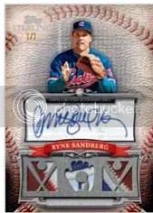 2010 Topps Sterling Ryne Sandberg Triple Relic Autograph
