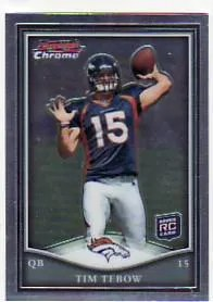 2010 Topps Chrome Tim Tebow Bowman Chrome Rookie