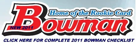 2011 Bowman Baseball Checklist