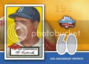 2011 Topps Series 1 60th Anniversary Relic Reprint Roy Campanella