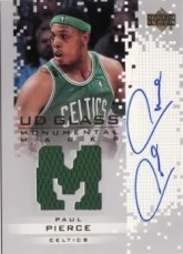 03-04 UD Glass Paul Pierce Monumental Marks Autograph Jersey